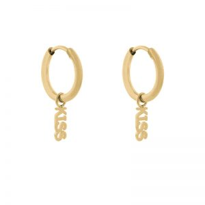 Earrings minimalistic kiss gold