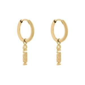 Earrings minimalistic queen gold