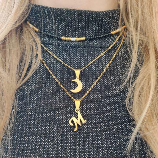 Necklace beaded snake