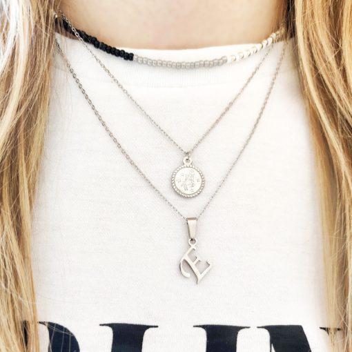 Necklace beaded zebra