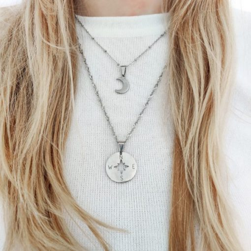 Necklace compass