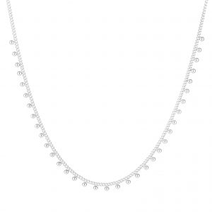 Necklace dots silver