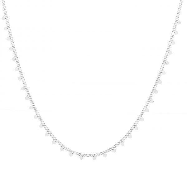 Necklace hearts silver