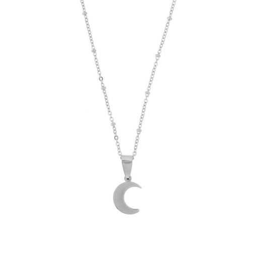 Necklace moon silver