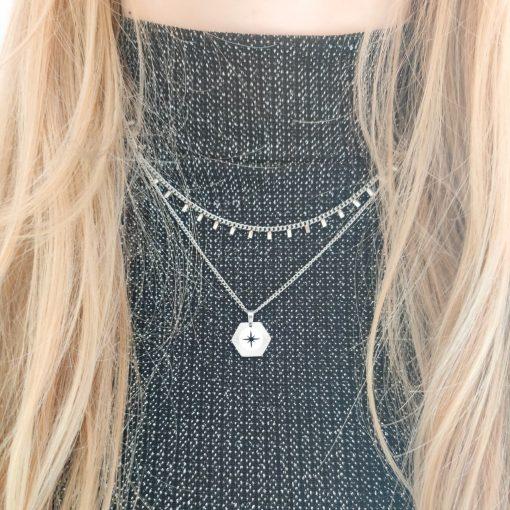 Necklace tiny bars