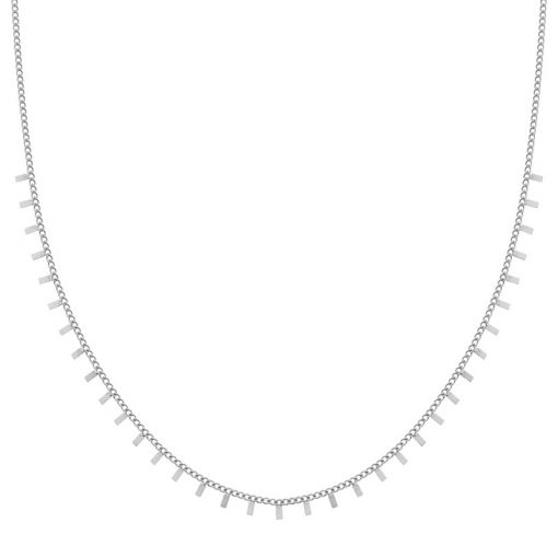 Necklace tiny bars silver
