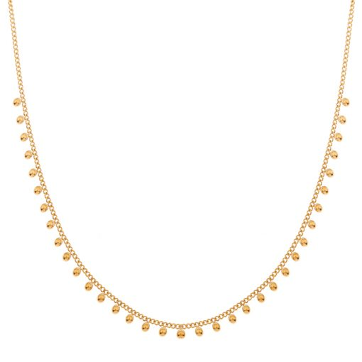 Necklace tiny dots gold