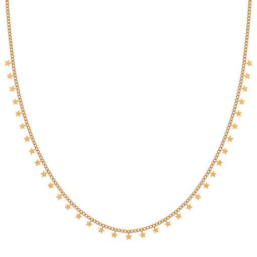 Necklace tiny stars gold