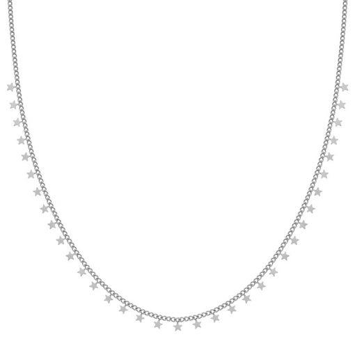 Necklace tiny stars silver