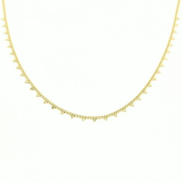 Necklace triangles gold