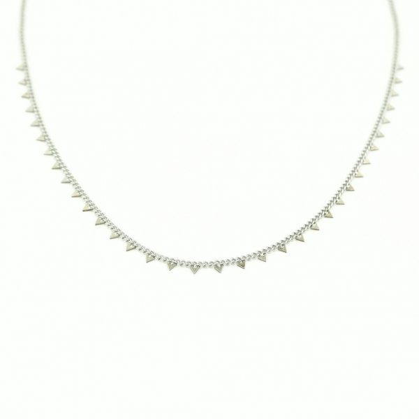 Necklace triangles silver