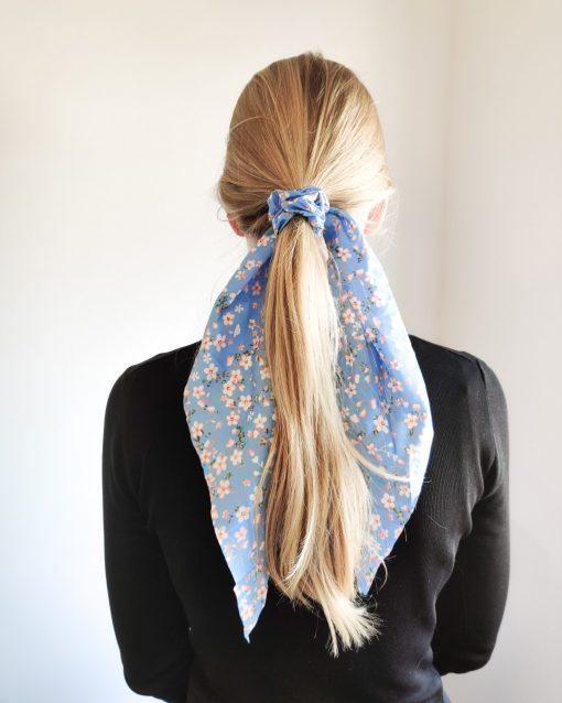 Scrunchie ribbon flower