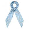 Scrunchie ribbon flower blue