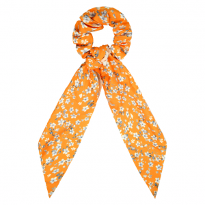 Scrunchie ribbon flower orange