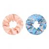 Scrunchie set flower blue pink
