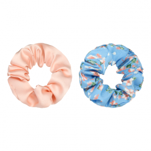 Scrunchie set flower blue pink
