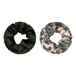 Scrunchie set flower pink black