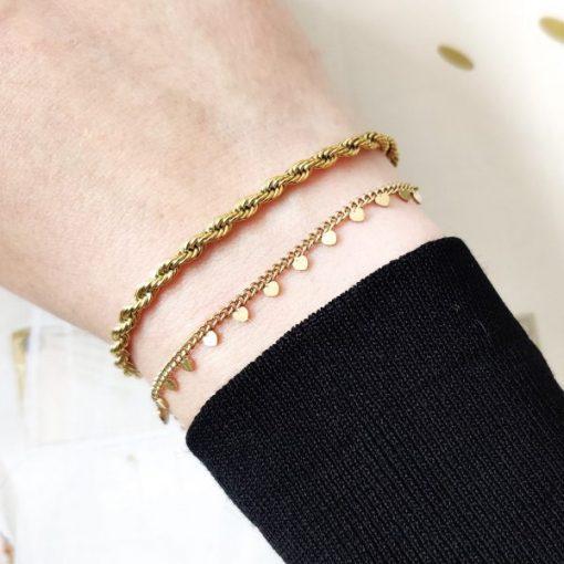 Bracelet tiny hearts
