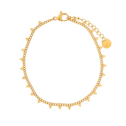 Bracelet triangles gold