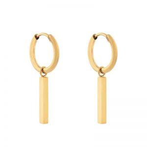 Earrings minimalistic bar gold