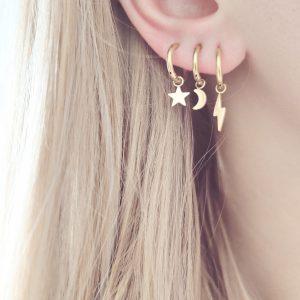 Earrings minimalistic star small