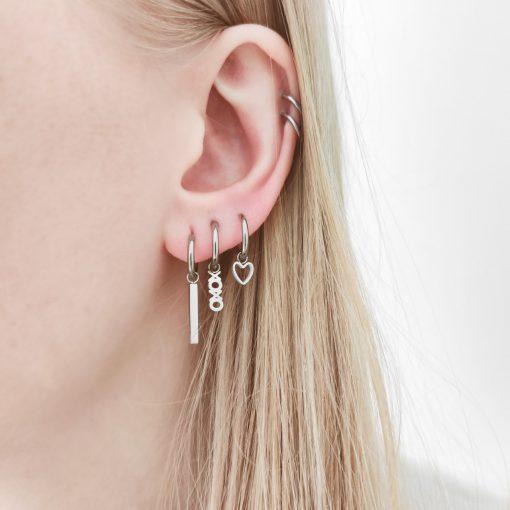 Earrings minimalistic xoxo