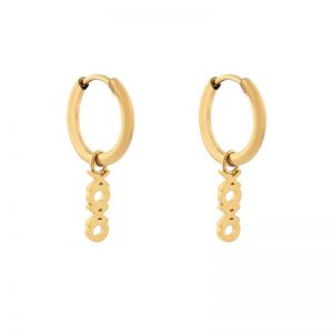 Earrings minimalistic xoxo gold