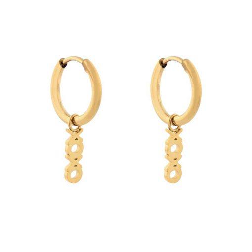 Earrings minimalistic xoxo gold