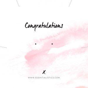 Jewellery card - Congratulations