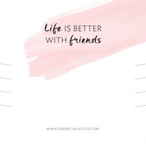 Jewellery card - Life is better with friends
