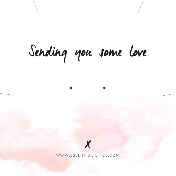 Jewellery card - Sending you some love