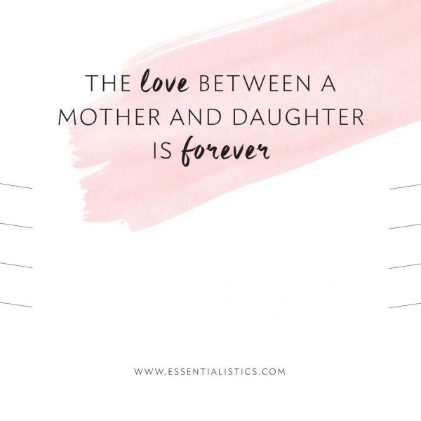Jewellery card - The love between a mother and daughter is forever