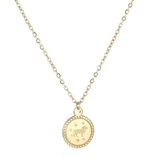 Necklace zodiac gold short