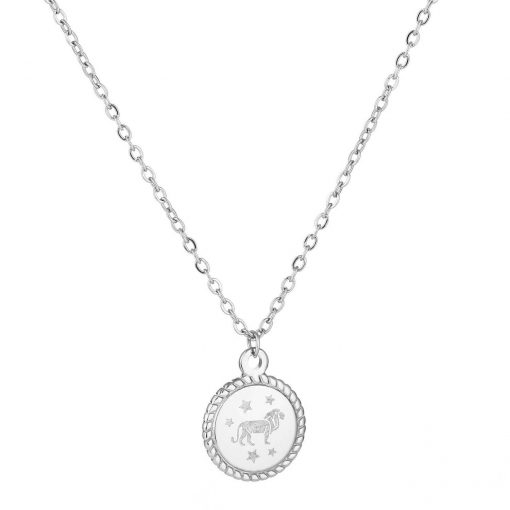 Necklace zodiac silver short