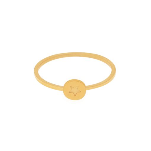 Ring round star gold