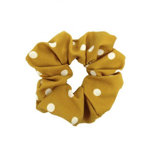 Scrunchie dots yellow