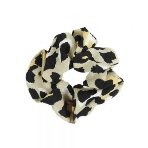 Scrunchie leopard beige
