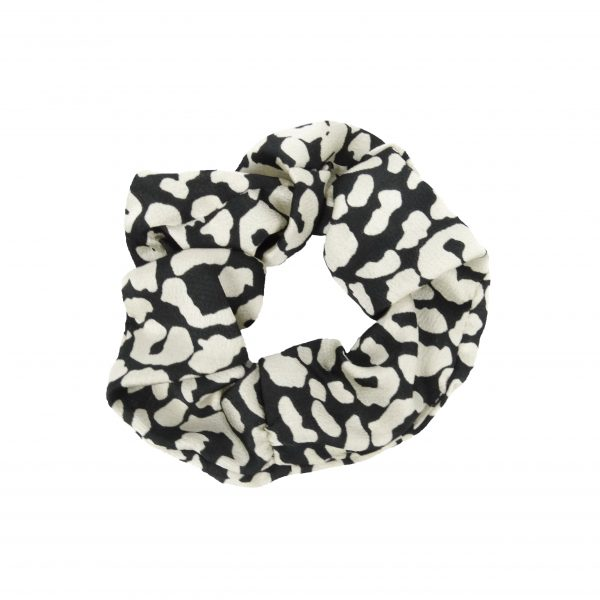 Scrunchie leopard white