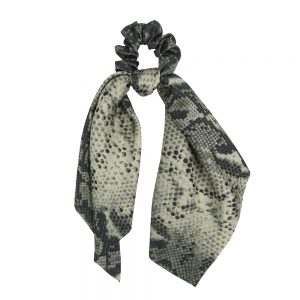 Scrunchie ribbon snake green
