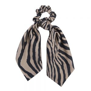 Scrunchie ribbon zebra brown