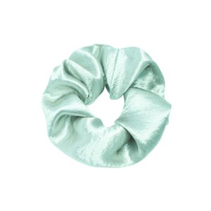 Scrunchie satin green