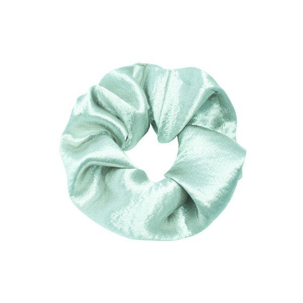 Scrunchie satin green