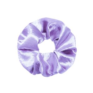 Scrunchie satin purple
