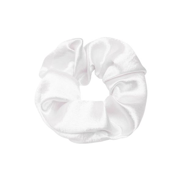 Scrunchie satin white