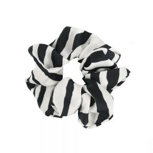 Scrunchie zebra white