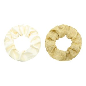 Scrunchie set glitter gold