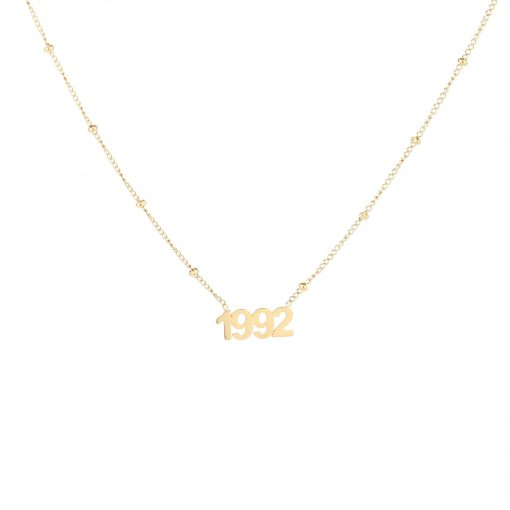 Necklace year of birth gold