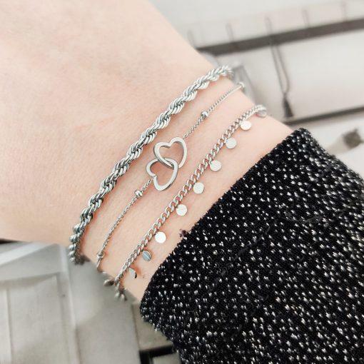 Bracelet two hearts