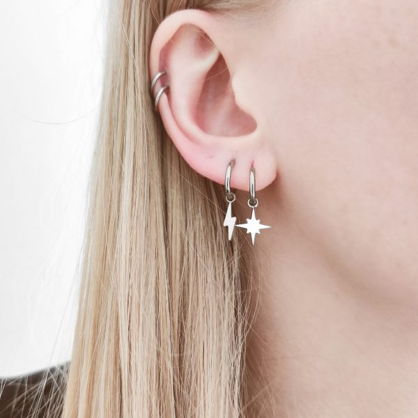 Earrings minimalistic Northstar large