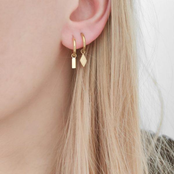 Earrings minimalistic bar small